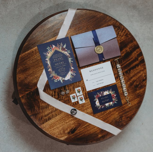 Invitations by The Ink Cafe. Photo by Amber Koelling Photography.